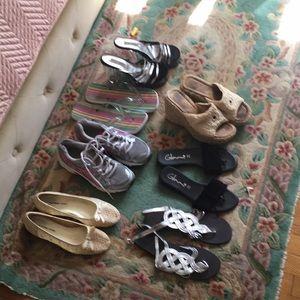 Shoes sandals flats flip flops sneakers